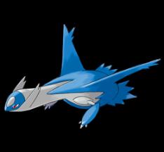 Latios, um Pokémon Dragon / Psychic. Ótimo para times ofensivos.